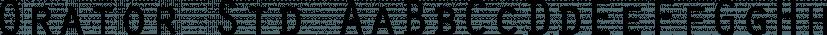 Orator Std font family by Adobe