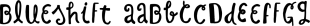 Blueshift font family mini