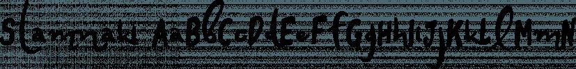 Stamnaki font family by Konstantina Louka