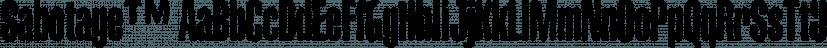 Sabotage™ font family by MINDCANDY