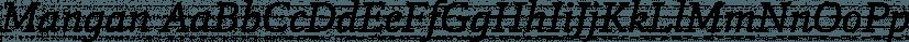 Mangan font family by Hoftype