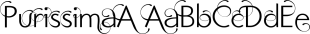 Purissima font family mini