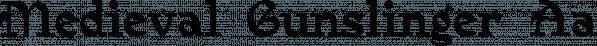 MedievalGunslinger font family by Ingrimayne Type