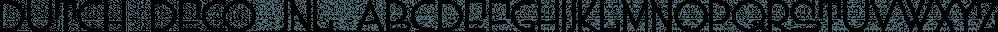 Dutch Deco JNL font family by Jeff Levine Fonts