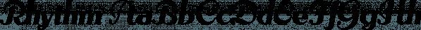 Rhythm font family by Positype