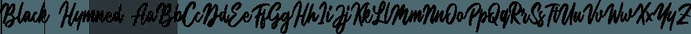 Black Hymned font family by Letterhend Studio