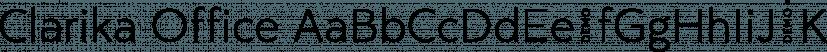 Clarika Office font family by Wild Edge