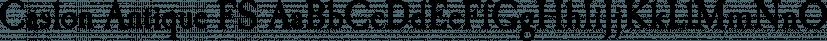 Caslon Antique FS font family by FontSite Inc.