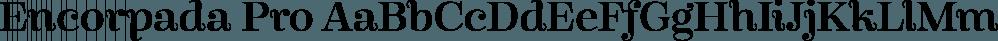 Encorpada Pro font family by dooType