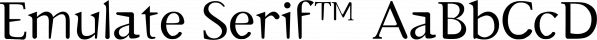 Emulate Serif™ font family by MINDCANDY