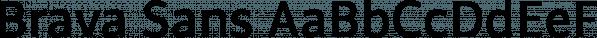 Brava Sans font family by Rafael Jordan