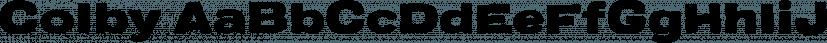 Colby font family by Jason Vandenberg