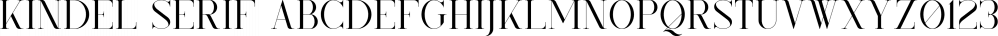 Kindel Serif font family by VPcreativeshop
