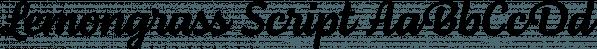 Lemongrass Script font family by Nova Type Foundry