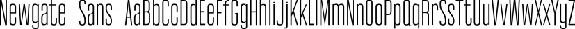 Newgate Sans font family by Uncle Avi