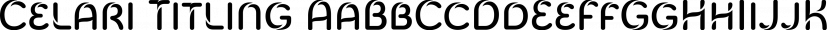 Celari Titling font family by Insigne Design