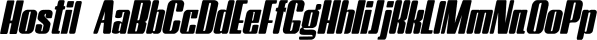 Hostil font family by Intellecta Design