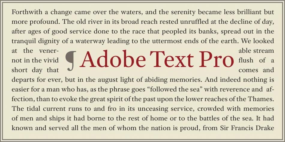 Adobe® Text Pro