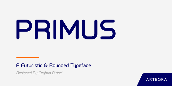 Primus font family by Artegra