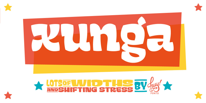 Xunga font family by Huy!Fonts