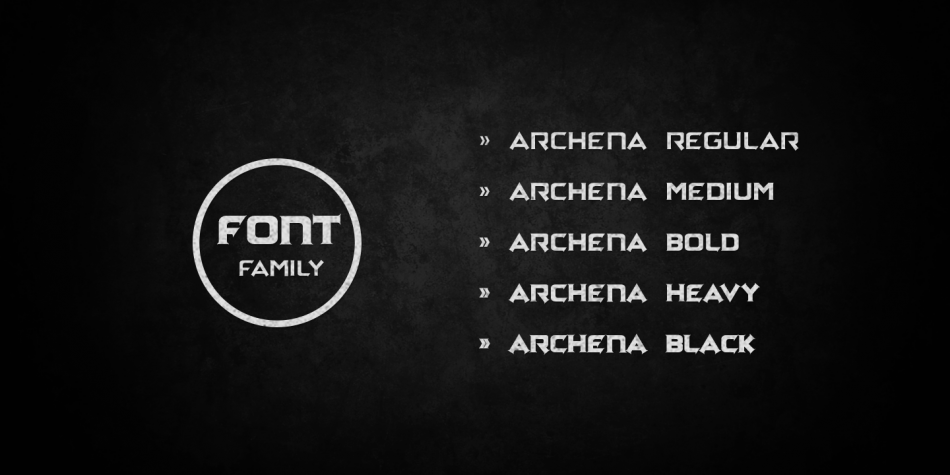 Download Archena Font Family